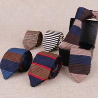 Fashion Men Striped Casual Tie Knit Knitted Tie Necktie Narrow Slim Skinny Woven