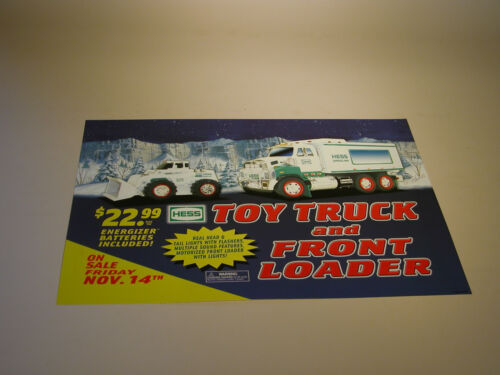 HESS 2008 TOY TRUCK AND FRONT LOADER REGULAR HOROZONTAL VINYL POSTER