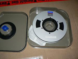 "Sony V1-K High Band Master Tape 1"" 34 min, Aluminum Reel and Hardcase NEU"