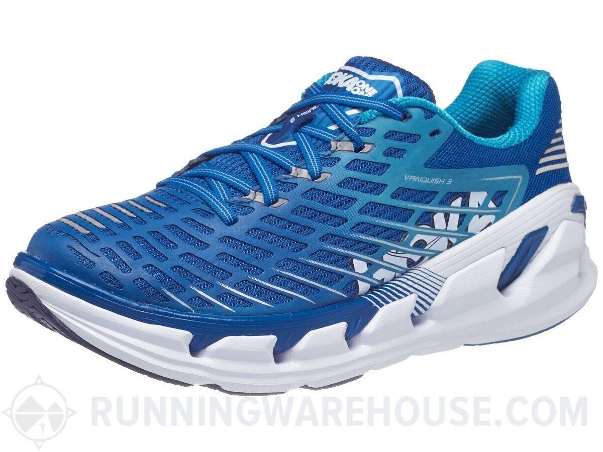 NIB HOKA ONE ONE Vanquish 3 MENS running shoes Size 10 bluee CUSHIONED