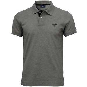 1ab3b722ef Gant Contrast Collar Pique Rugger Men's Polo Shirt, Grey Melange ...