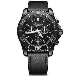 Swiss Army 241786 Men's Maverick Chronograph Black Strap Watch