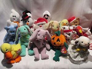 Ty Beanie Baby - Choice - Fleece Hoppity Floppity Hippie Eggbert Sheets Santa