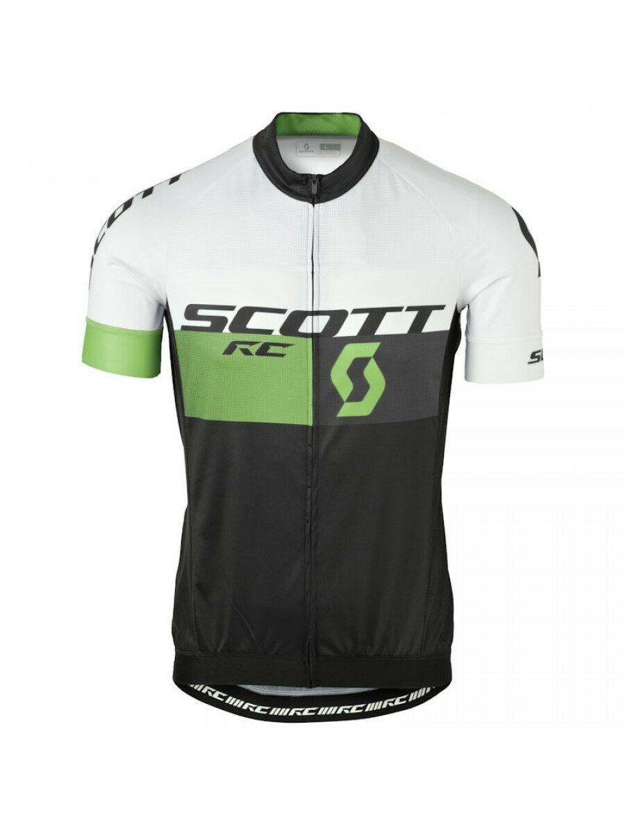 Scott RC Pro 2016 Bianco verde Maglia manica Corta  TG M