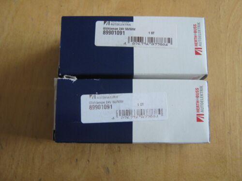 2Stck Bilux Zweifaden Glühlampe 24V 55//50W Herth+Buss Autoelektrik 89901091