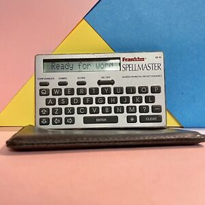 Franklin-Pocket-Spell-Master-QE-95-Working-Order-With-Case