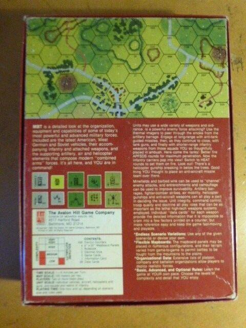 MBT partie non perforé & complet Avalon Hill Hill Hill 3e3e54