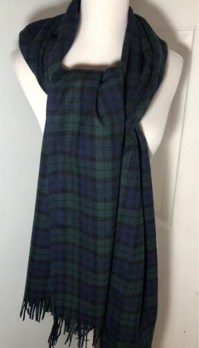 Vintage Pendleton Scarf Virgin Wool Muffler Black
