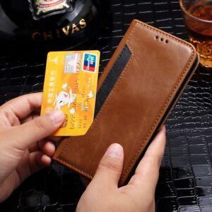 Luxe-Coque-Magnetique-Flip-Portefeuille-en-cuir-porte-carte-pour-Samsung-iPhone