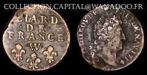 Liard-de-France-1714W-Lille-Buste-age-Type-3-Louis-XIV