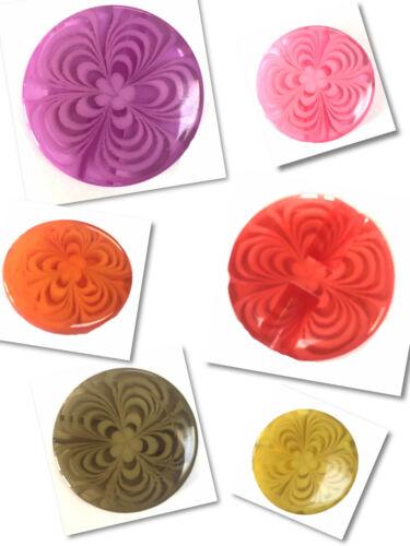 Plastic 25 mm Buttons Large Buttons Jackets Coat Buttons Multi Colours 25mm