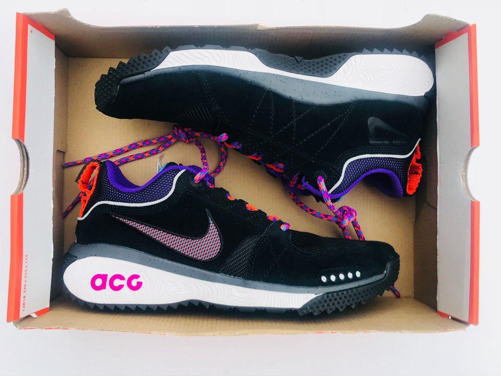 Nike ACG Dog Mountain Nero Grey Grape AQ0916-001 Uomo Sz 8.5, Donna Sz 10