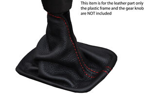 red-stitch-FITS-VOLVO-S40-V50-C30-04-12-MANUAL-LEATHER-GEAR-GAITER