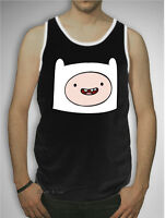 Adventure Time With Finn Boy & Jake Face Tank Top T-shirt Mens S-xl Licensed