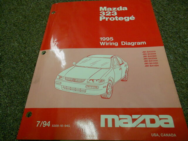 1995 Mazda 323 Protege Electrical Wiring Service Repair