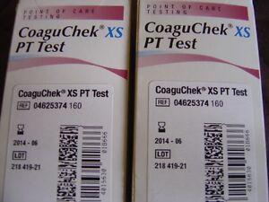 2-Boxes-CoaguChek-XS-PT-Test-Strips-Exp-06-2014-NEW-12-Strips-amp-2-Chips