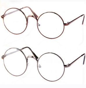 0ab3269c2ac Image is loading Retro-Vintage-Round-Women-Men-Eyeglasses-Frame-Plain-