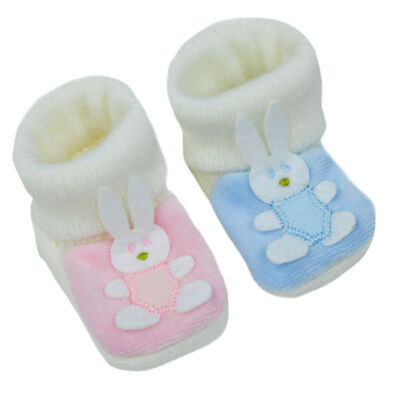 Booties Lapin Pour Bebe De Naissance Rose Spare No Cost At Any Cost Baby Shoes Girls' Clothing (newborn-5t) Aspiring Paire De Chaussons