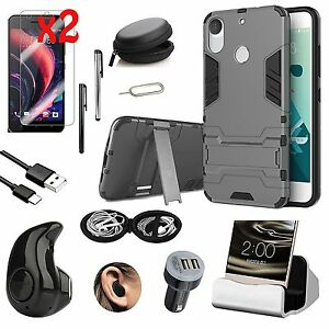 Kickstand-Case-Cover-Charger-Wireless-Headset-Accessory-For-HTC-Desire-10-Pro