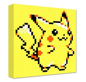 Details About Pikachu Pixel Art Canvas Large Wall Art Pokemon Game Room Decoration Geek