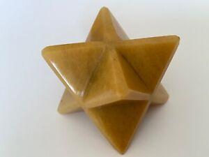 Yellow-Jasper-Merkaba-Star-30mm-Ezekiels-Wheel-Meditation-Sacred-Geometry