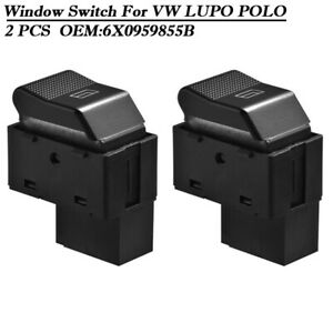 2x Electric Window Control Switch compatible compatible for VW LUPO 6X1 6E1 Polo 6N2 6X0959855B MA1541