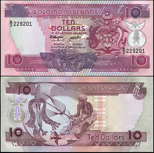 Îles Salomon 10 Dollars. NEUF ND (1986) Billet de banque Cat# P.15a