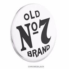 "Jack Daniels Old No 7® Chrome Aluminum & Black Emblem 2.5"" Motorcycle Car Truck"