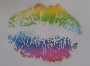 SEXY-MULTI-COLOUR-LIPS-iron-on-t-shirt-transfer-A5-LIGHT-GARMENTS-ONLY