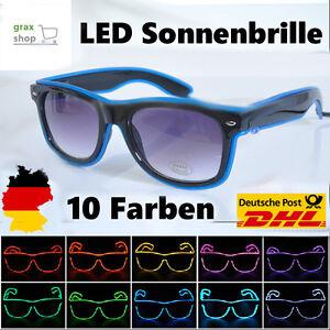 große sorten begrenzte garantie am besten bewerteten neuesten Details zu LED Party Brille Sonnenbrille verschiedene Farben leuchten Rave  Festival