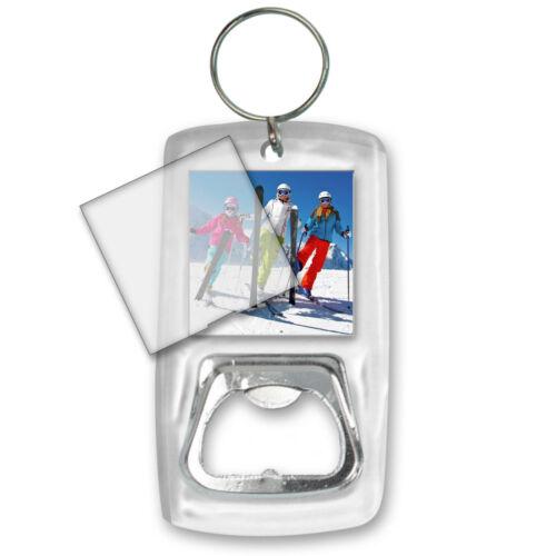 Bottle Opener Blank Photo Key Chain Clear Acrylic Case LOT OF 3 #BOA-Blank-S3#