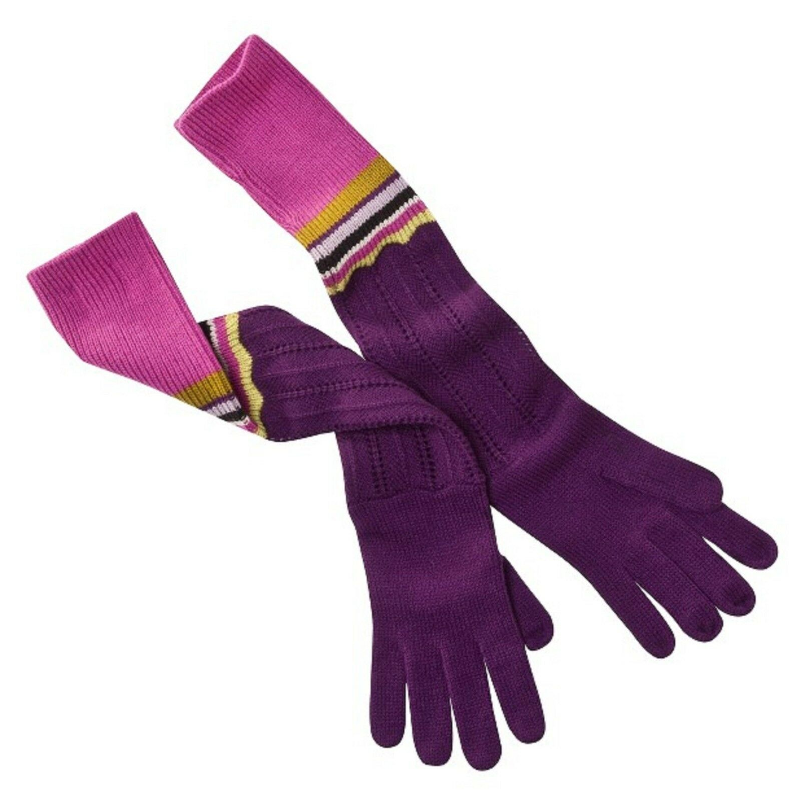 SET MISSONI FOR TARGET WOMENS SCARF AND GLOVES PURPLE