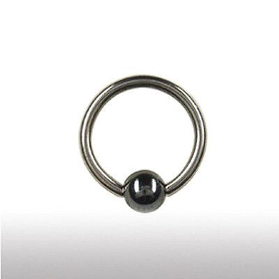 1,6mm Titan Piercing Klemm Ring Hämatit Kugel Ohr Brust Lippen Intim Piercing | eBay
