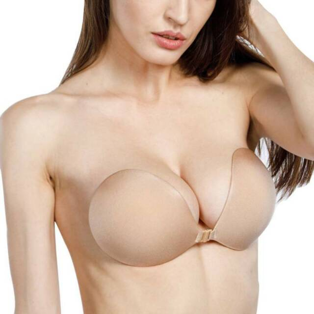 Silicone Sticky Invisible Adhesive Bra Strapless Backless Push Up Rabbit Round