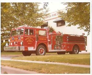 Pasippany-Troy Hills, NJ Vol Fire Dept pumper truck Orig 8 x 10 Photo B140