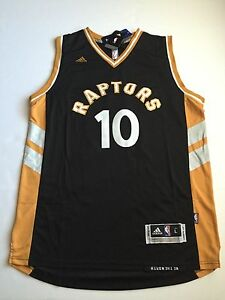 best service 8b080 017ab Details about DeMar DeRozan Toronto Raptors NBA Black Gold Swingman Jersey  Men's Size XL