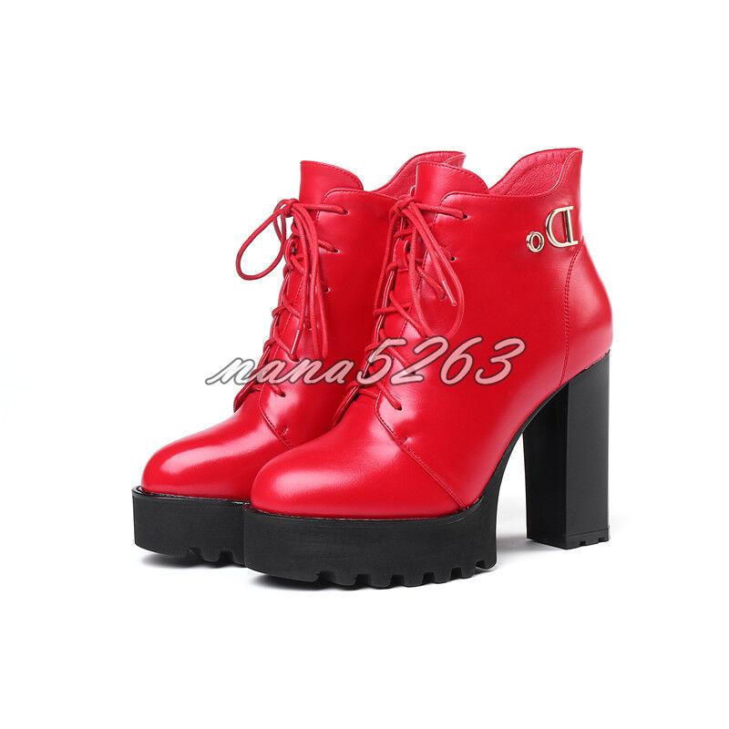 Stiefeletten Damen Ankle Stiefel Blockabsatz Alltag Spitze Zehe Zehe Zehe Klassisch Gr.34-39  | Günstig  775b82