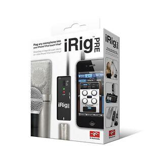 ik multimedia irig pre xlr microphone audio interface for ios ebay. Black Bedroom Furniture Sets. Home Design Ideas