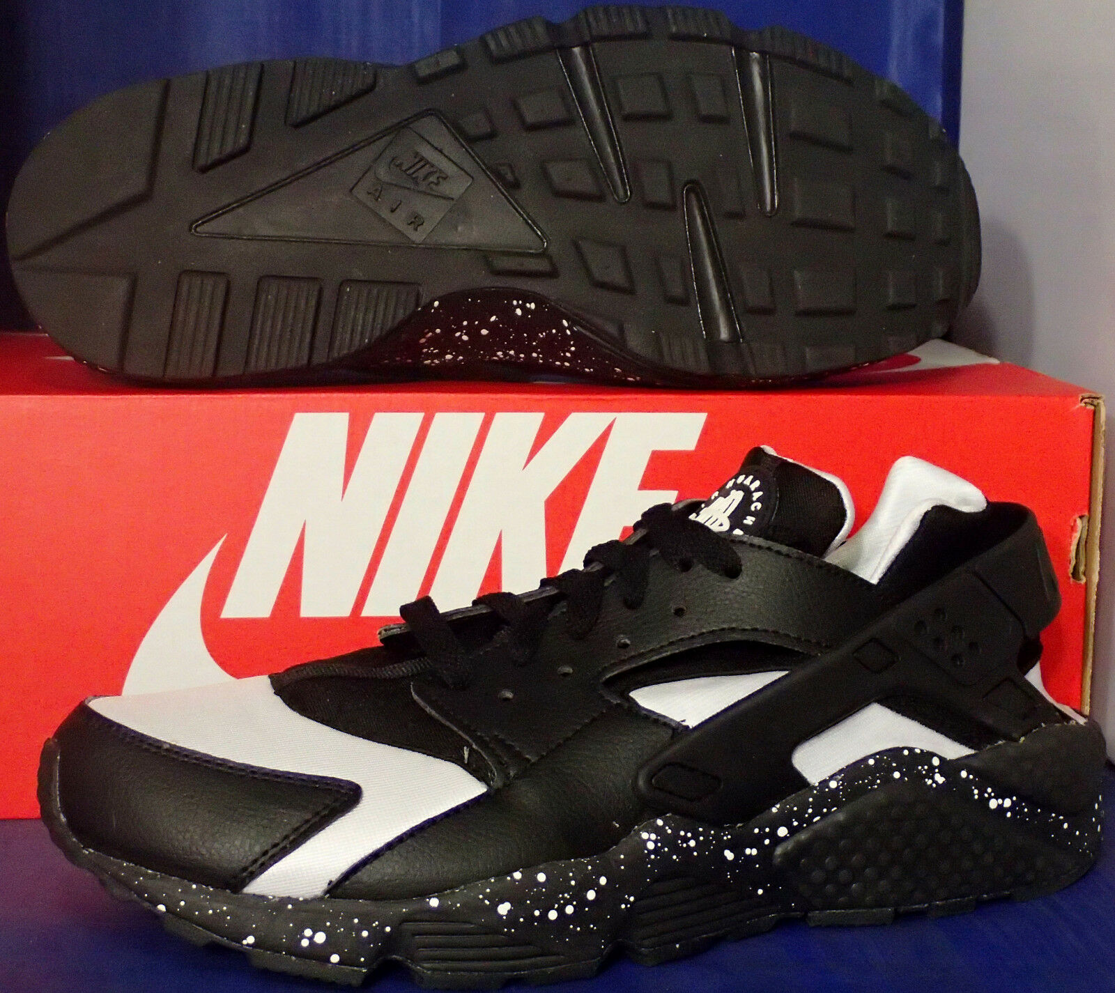 Nike Aire Huarache Run Id Id Id blancooo Negro Talla 8.5 (777330-994 e33f9b