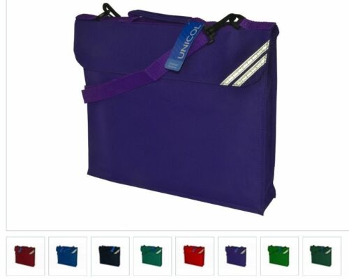 Pack of 5 Kids School Conference Junior Book Bag with Strap 9 Colours