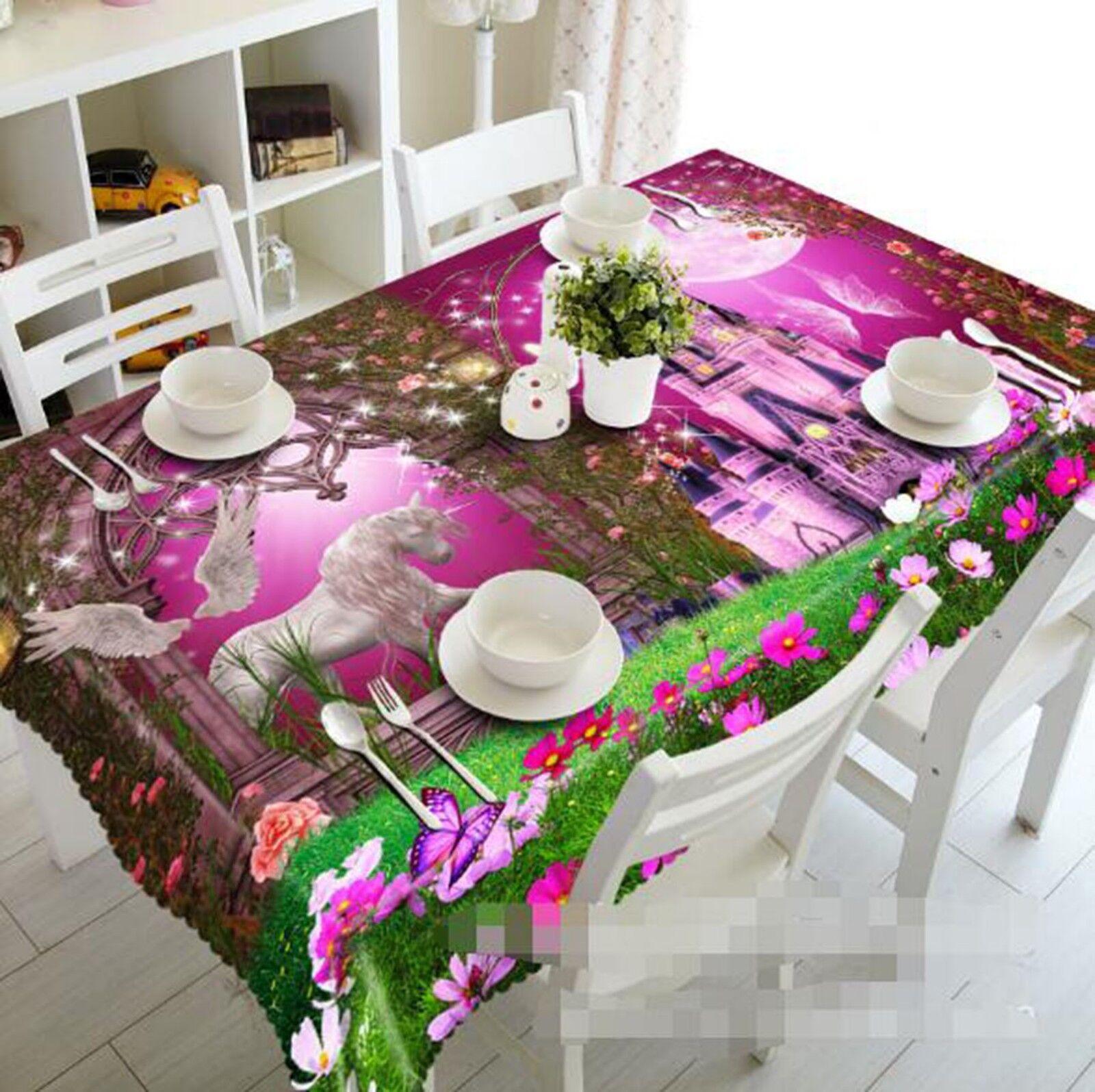 3D blanc Horses 22 Tablecloth Table Cover Cloth Birthday Party Event AJ Lemon