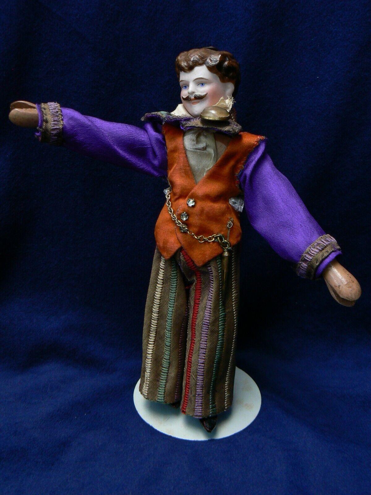 Antiguo Simon Halbig hombre Muñeca Schoenhut Circo Ringmaster cuerpo de madera 7.5