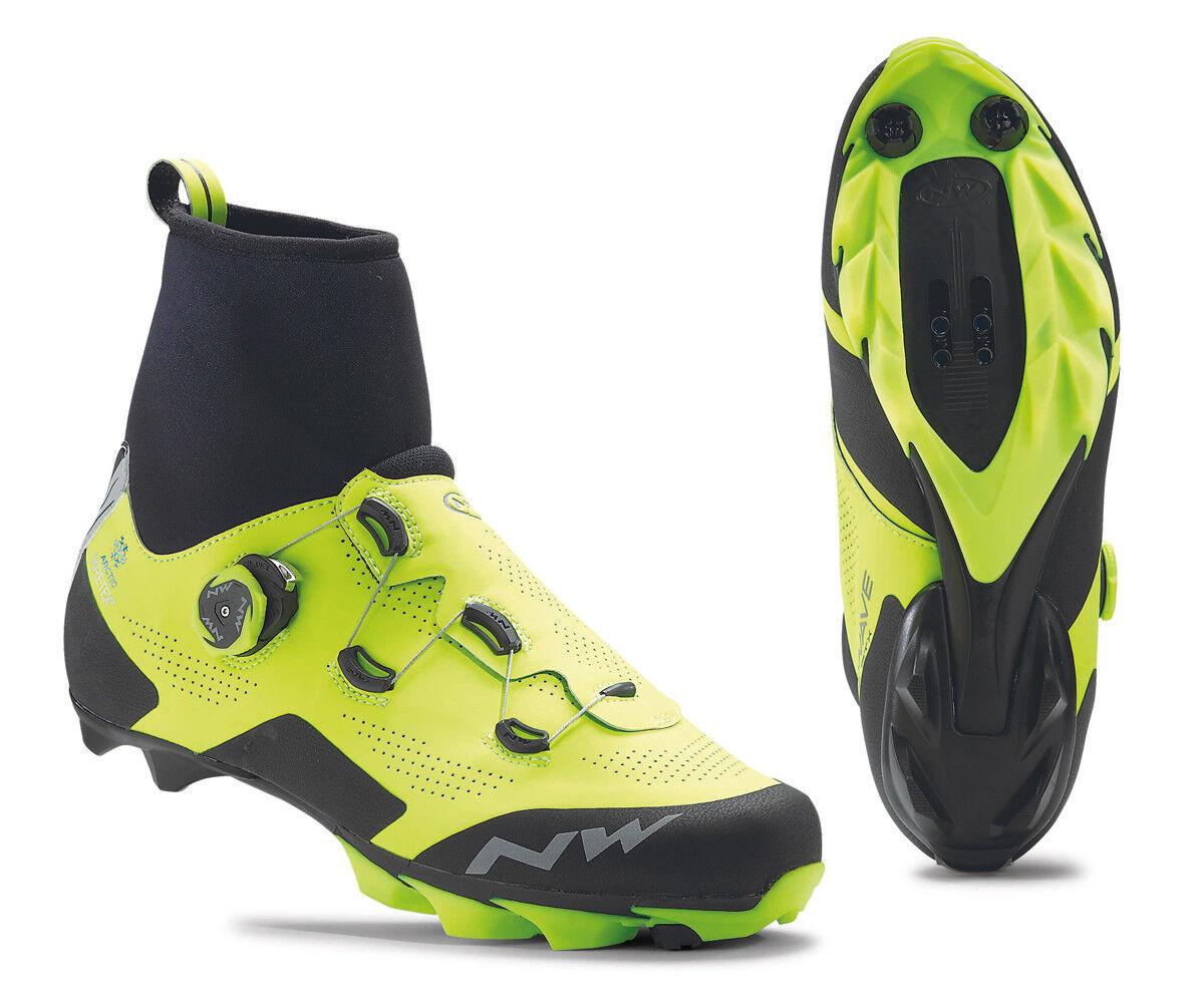 Northwave Raptor Arctic GTX Winter MTB Fahrrad Schuhe gelb schwarz 2020