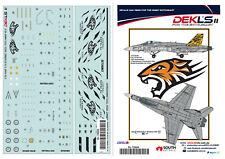 1//72 RAAF DECALS; F//A-18A//B Hornet 2 OCU Tiger Tail 2002