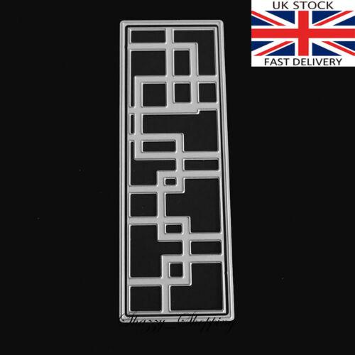 Geometric rectangle panel die metal cutting die cutter UK Seller Fast posting