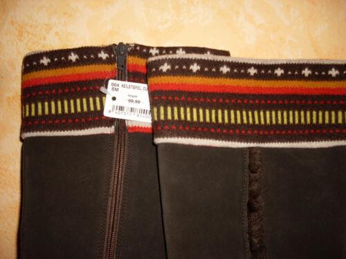 Gr maglia New pelle zeppa confortevole marrone super con In scamosciata 40 scuro e Stivali TZntC