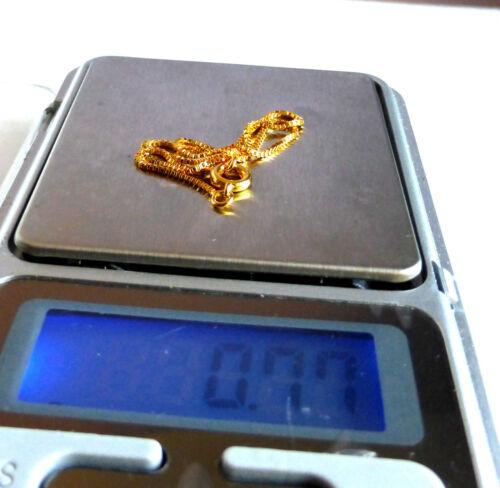 Women Girl No Stone 24K Yellow Gold Plated 20cm Small Box shape Chain Bracelet