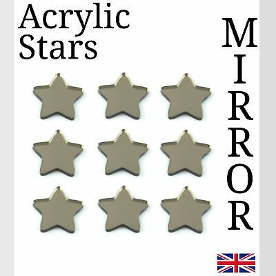 White Star Acrylic Plastic Perspex Various Sizes small Arts /& Crafts K/&M