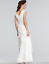 Adrianna-Papell-Cap-Sleeve-Tiered-Silk-Chiffon-Gown-Ivory-White-Wedding-BHLDN thumbnail 2