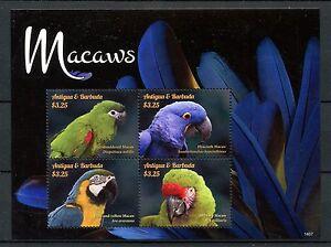 Antigua & Barbuda 2014 Neuf Sans Charnière Aras 4v M/s I Oiseaux Perroquets Ara Hyacinthe Timbres Une Grande VariéTé De Marchandises